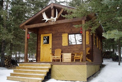 Bavarian Cottages Bar 5C Micro Cabin in Bragg Creek, Alberta Canada