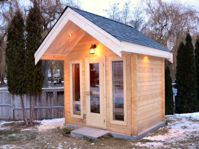Custom Outdoor Sauna built by Bavarian Cottages in Kelowna BC